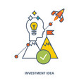 concept of investment idea and creative process vector image