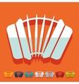Flat design accordion vector image