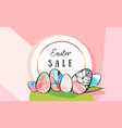 hand drawn abstract creative easter sale vector image