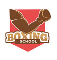 hand on boxing school sign vector image