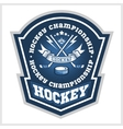 Hockey championship logo labels sport vector image