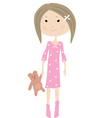 Hand drawn little girl vector image vector image