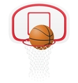 basketball basket vector image