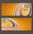 banners for basketball vector image