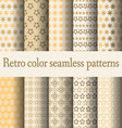 retro color seamless pattern vector image