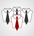 tie and shirt design business flat concept vector image