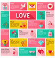 Flat Design Icons Infographic Love Concept vector image