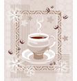Coffee creamy composition vector image