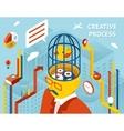Creative process Gears in human head vector image