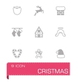 Cristmas icon set vector image