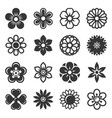 flower icons set on white background vector image