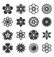flower icons set on white background vector image