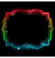 Glowing frame vector image