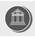 symbol of bank blue isolated icon design vector image