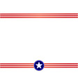 usa flag red blue frame vector image