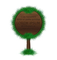 Wood-signboard vector image