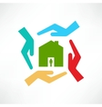 The concept of safe houses vector image
