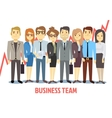 Business team concept with man and woman vector image