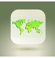 Map icon for application on air background Grid vector image
