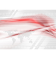 Red and grey technology background vector image vector image