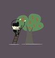 Businessman and money tree vector image