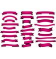 Set of fuchsia ribbons vector image