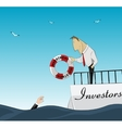 Investnemt and finance help vector image vector image