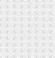 Gray circles touching wavy lines vector image