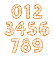 Donut numbers vector image