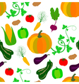 autumn vegetables pattern vector image