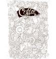 Coffee Sketchy Notebook Doodles Hand-Drawn Coffee vector image