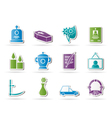 funeral and burial icons vector image