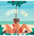 Leisurely and carefree life of a couple on the vector image