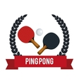 ping pong equipment sport vector image