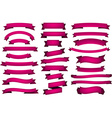 Set of fuchsia ribbons vector image