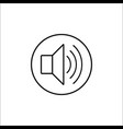 sound mode line icon mobile sign and loud vector image