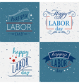 happy labor day set of badges and labels vector image