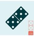 Domino bone icon vector image