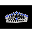 Tiara crown womens wedding on the black vector image