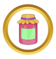 Jam in a glass jar icon vector image