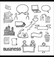 business communication and advertisement elements vector image vector image