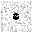 dog characters large collection vector image vector image
