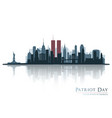 patriot day new york view before september 11 vector image