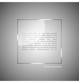 Abstract background with a glass panel vector image