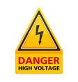 Danger High Voltage Sign vector image
