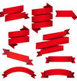 Red Web Ribbons Set vector image vector image