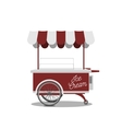 Red retro Ice-Cream Cart for your Design vector image