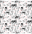 Farm seamless pattern with sheep goat and cow vector image