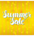 Summer Sale Lettering over Yellow Abstract vector image