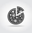 Pizza piece Black Icon vector image